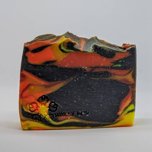 Solar Flares artisan handmade soap by Woolly Bath.