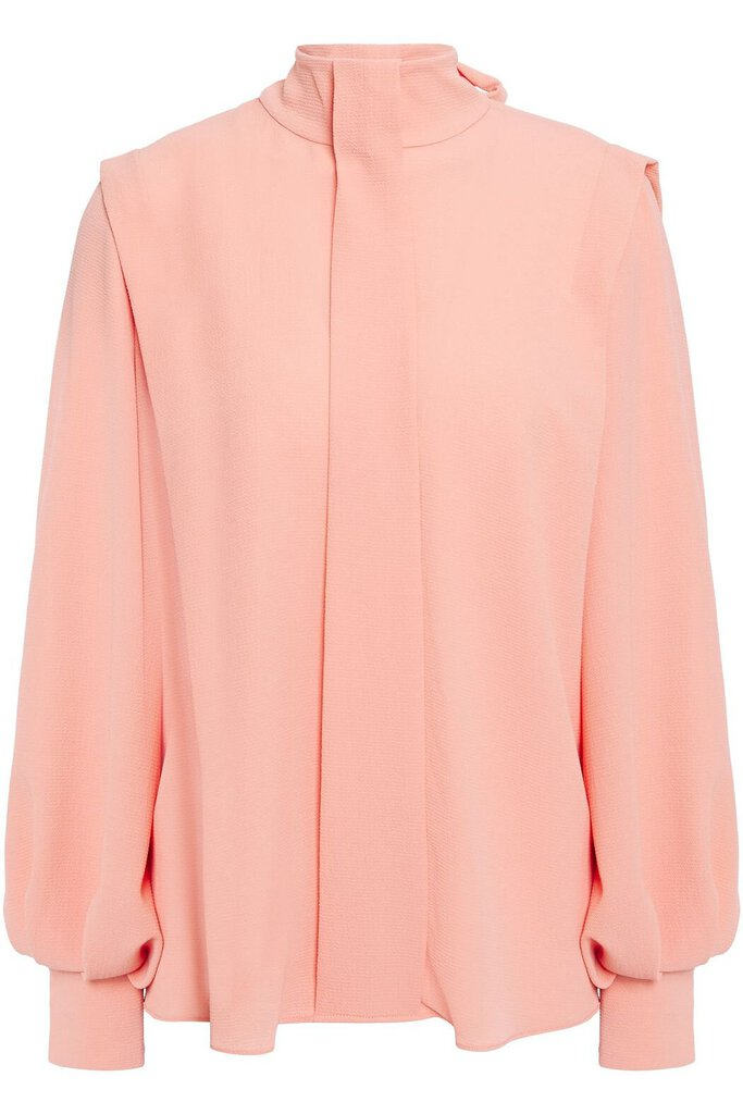 Brunhilda pussy-bow crepe blouse
