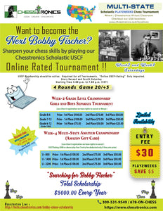 "K-12 ""Searching for Bobby Fischer"" Chess Scholarship Eligibility $5000  Total Prize Upto $600"