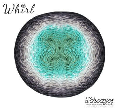 Scheepjes Whirl - 785 Minty Black Velvet - Aurora Collection