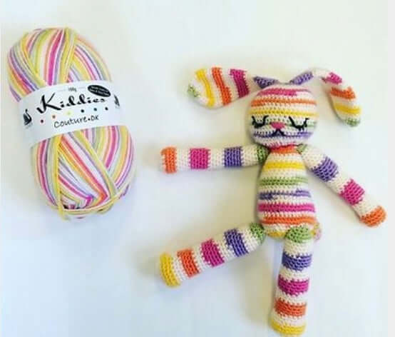 Cygnet Kiddies Couture DK Prints - Crocheted Bunny (Crochet)