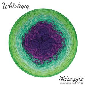 Scheepjes Whirligig - 208 Green To Purple
