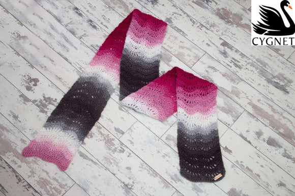 Cygnet Boho Spirit - Feather and Fan Scarf (Crochet)