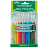 Clover Amour Crochet Hook Set of 9 - 2.00mm - 6.00mm