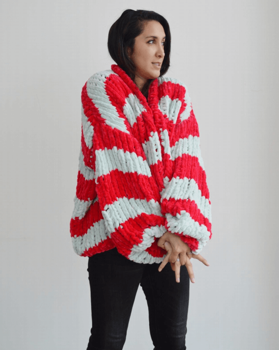 Cygnet Scrumpalicious - Cherry Striped Cardi (Knit)