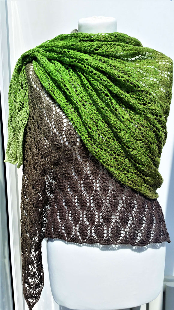 Leaf Shawl Pattern - Instant Download