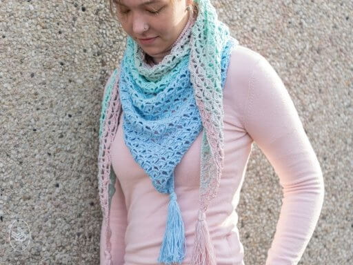 Unicorn Shawl Pattern UK Crochet - Instant Download