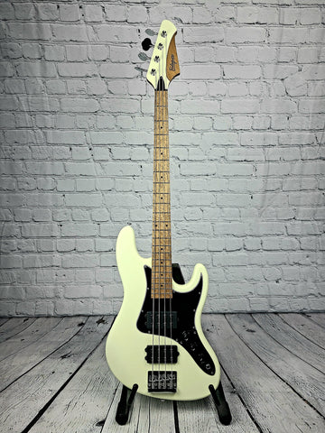 Balaguer Goliath Select Bass - Satin Vintage White w/Roasted Maple Neck