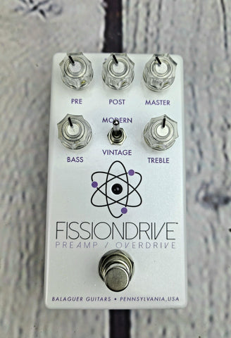 Balaguer Guitars Fission Drive V2 Overdrive Pedal (White)