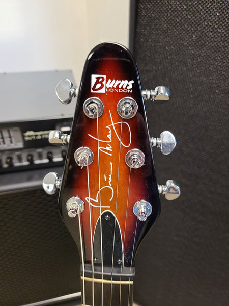 USED Burns Brian May Sunburst Electric Guitar