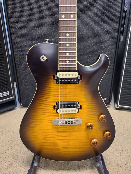 USED Knaggs Kenai Tier 3 Dark Tobacco Burst Single Cut Guitar