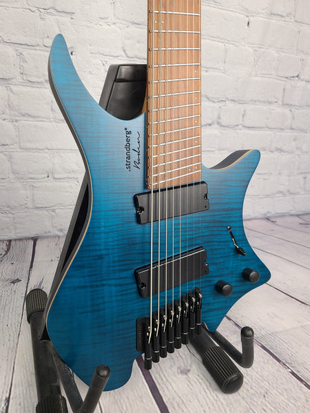 Strandberg Boden Standard 8 String Flame Maple Trans Blue