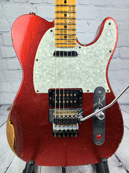 USED Fender John Cruz Master Built Custom Shop Telecaster 2009 Floyd Rose Red Sparkle Over 3TSB