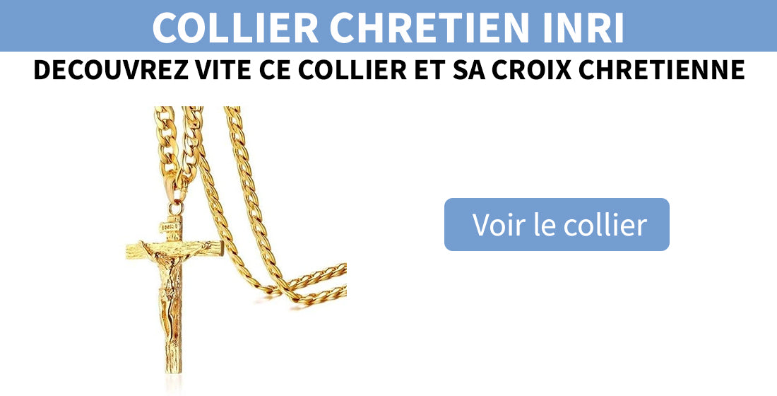 collier croix jesus or