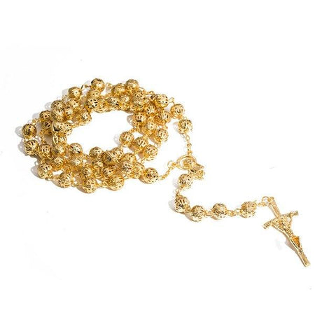 Collier Chapelet<br> Perles d'Or