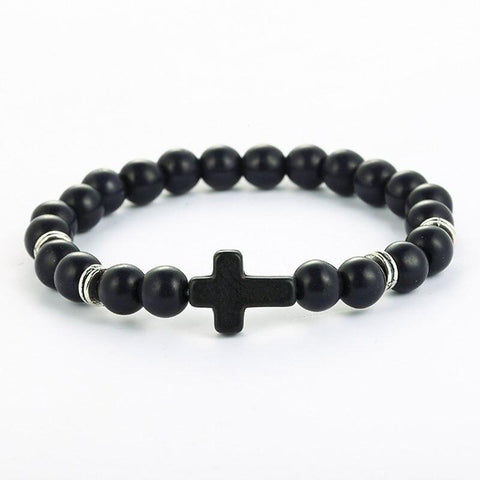 <transcy>Christian Cross Bracelet</br> Natural pearls</transcy>