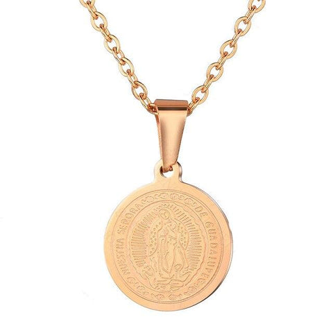 Médaille Miraculeuse<br> Vierge Marie Or Rose