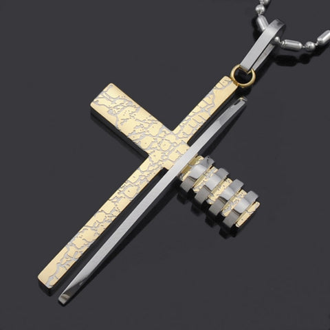 Collier Croix Homme<br> Look Moderne