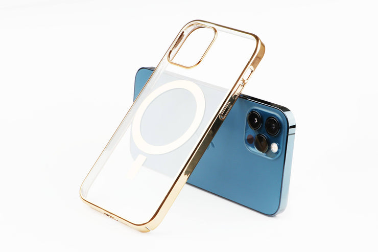 iPhone 12/12 Pro Clear Case with Magnetic Ring (Supports MagSafe Wireless Charging) Bundle TECK APE