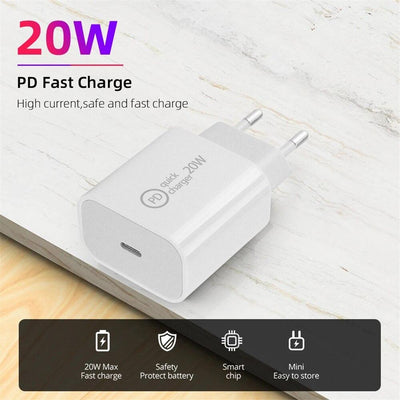 TeckApe™ 20W PD Wall Charger for iPad, iPhone, Android devices TECK APE