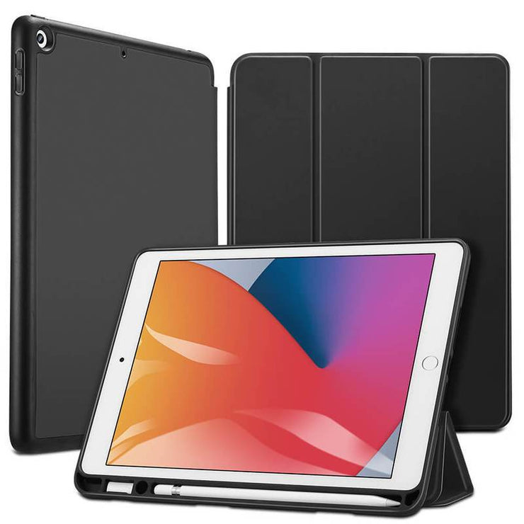 TeckApe™ iPad 8th Gen (2020) Rebound Pencil Smart Case TECK APE Black