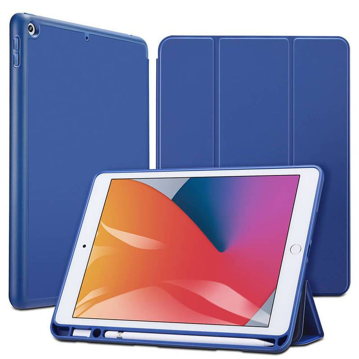 TeckApe™ iPad 8th Gen (2020) Rebound Pencil Smart Case TECK APE Blue