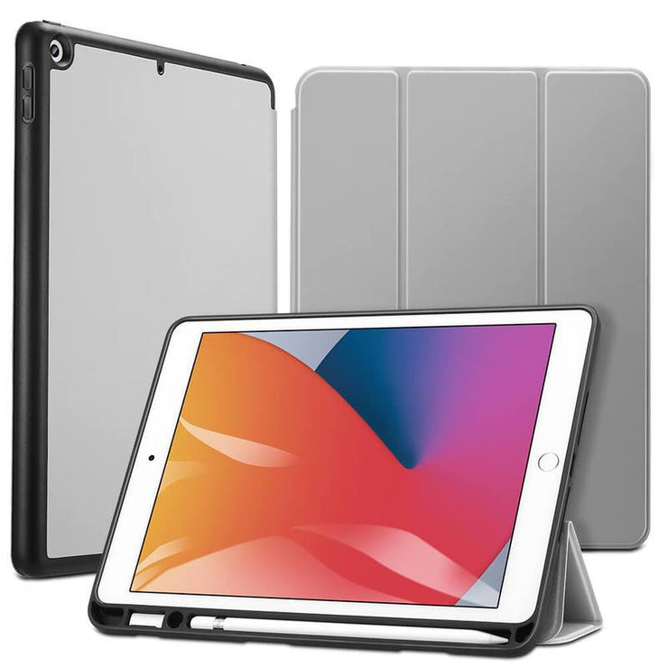 TeckApe™ iPad 8th Gen (2020) Rebound Pencil Smart Case TECK APE Grey