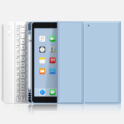 TeckApe™ iPad Air 4 (2020) Rebound Pencil Case With Keyboard TECK APE Blue