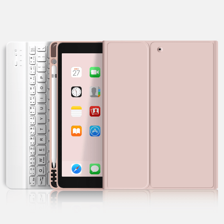 TeckApe™ iPad Air 4 (2020) Rebound Pencil Case With Keyboard TECK APE Rose Gold