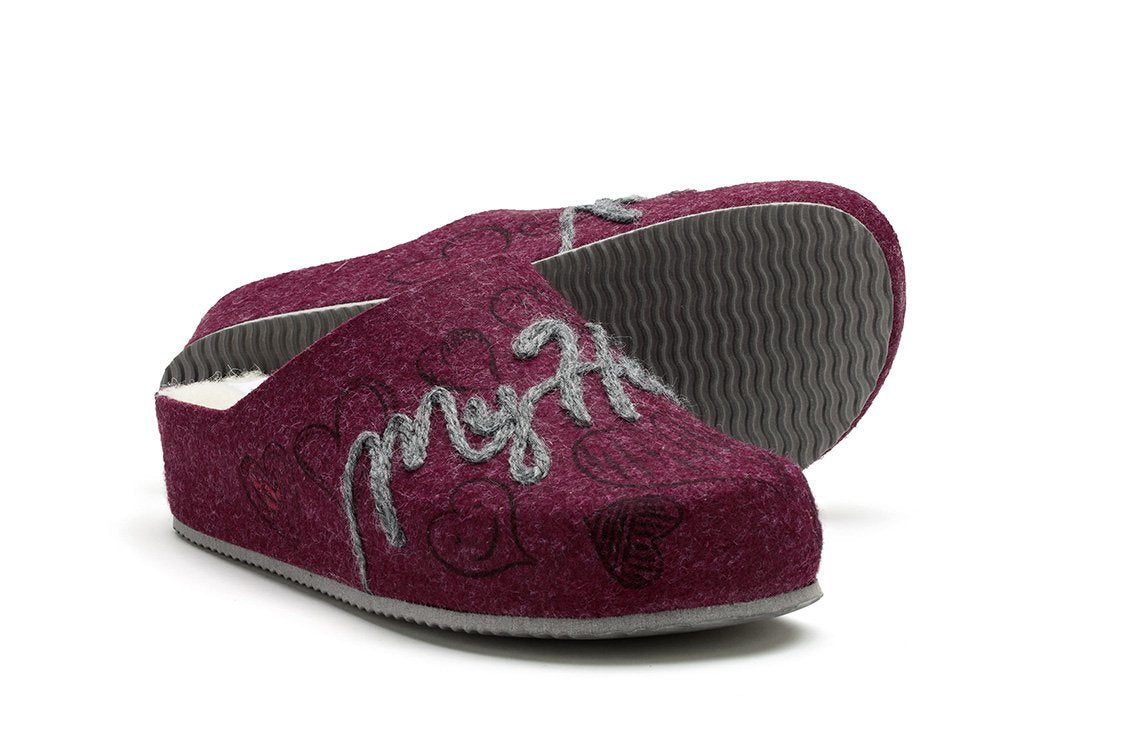 Sansa Heel Ecological Wool (Bordeaux)