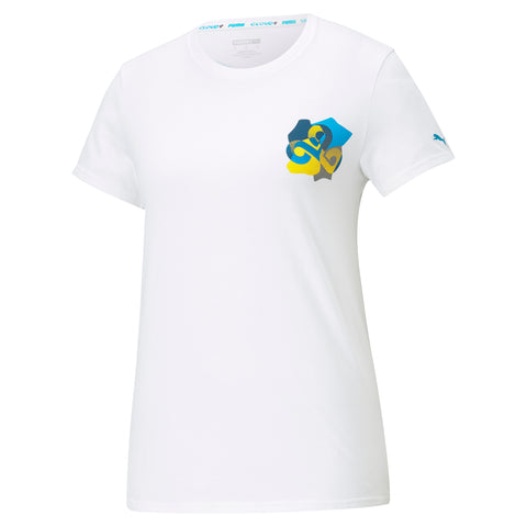 Puma x Cloud9 Jigsaw T-Shirt. Womens. White.