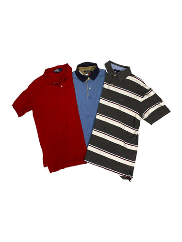 Vintage Ralph Lauren and Tommy Hilfiger Three Button Polo Bundle