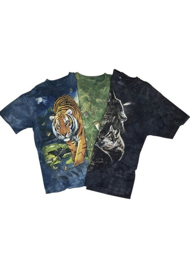 An image of three different wholesale vintage t-shirts with animal designs