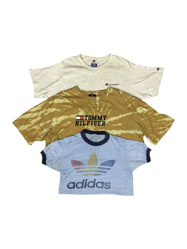 An image of three different brand logo wholesale vintage t-shirts