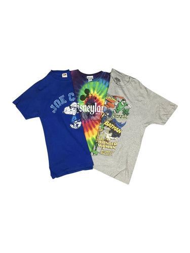 An image of three different vintage apparel cartoon t-shirts