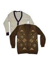 Vintage Men's Print Cardigan Bundle