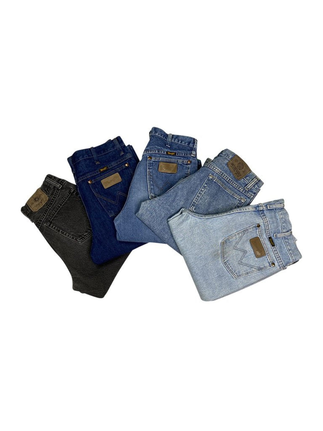 Vintage Wrangler Leather Patched Jeans Bundle