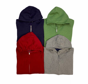 Vintage Solid Zip Hooded Sweatshirt Bundle