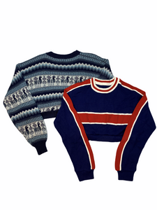Wholesale Crop Print Sweater Bundle