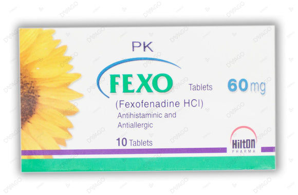 Fexo Tablets 60mg 10's