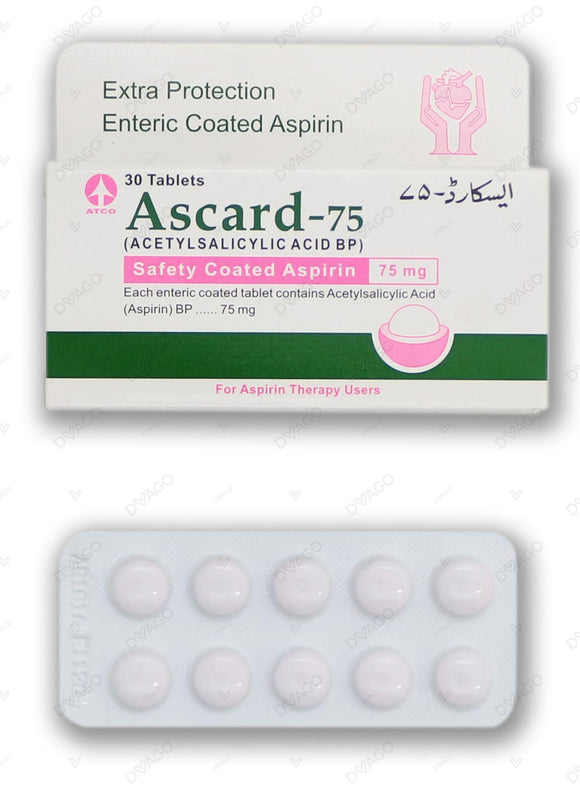 Ascard Tablets 75mg 30 Tablets