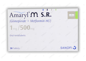 Amaryl M Tablets Sr 1/500mg 30's