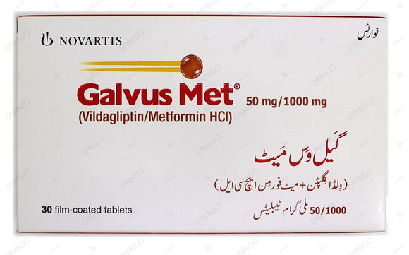 Galvus Met Tablets 50/1000mg 30's