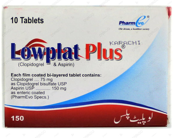 Lowplat Plus Tablets 75/150mg 10's