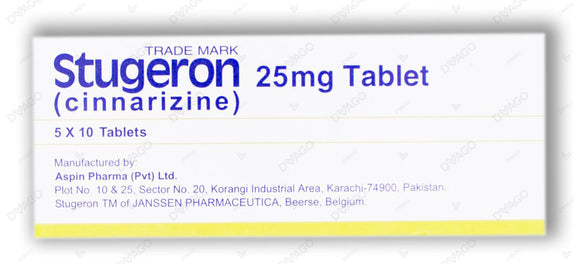 Stugeron Tablets 25mg 10X5's