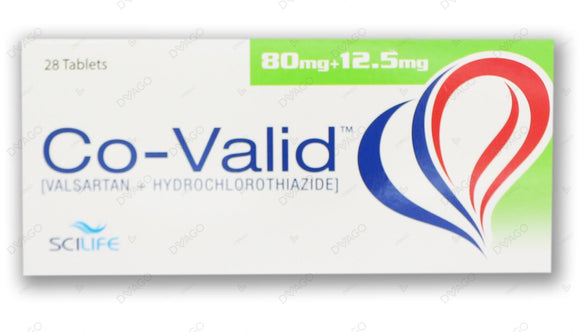 Co-Valid 80/12.5mg Tablets 28's