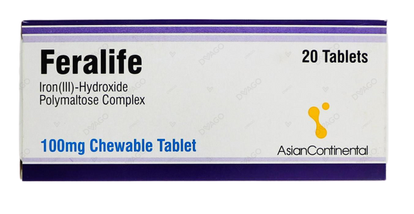 Feralife 100mg Tablets 20's