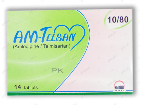 Am-Telsan Tablets 10/80mg 14's