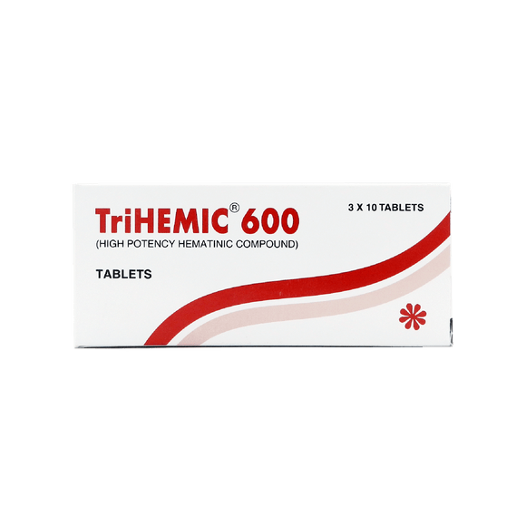 Tri-Hemic 600 Tablets 3X10's