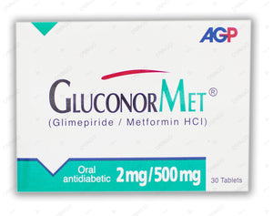 Gluconormet Tablets 2/500mg 30's